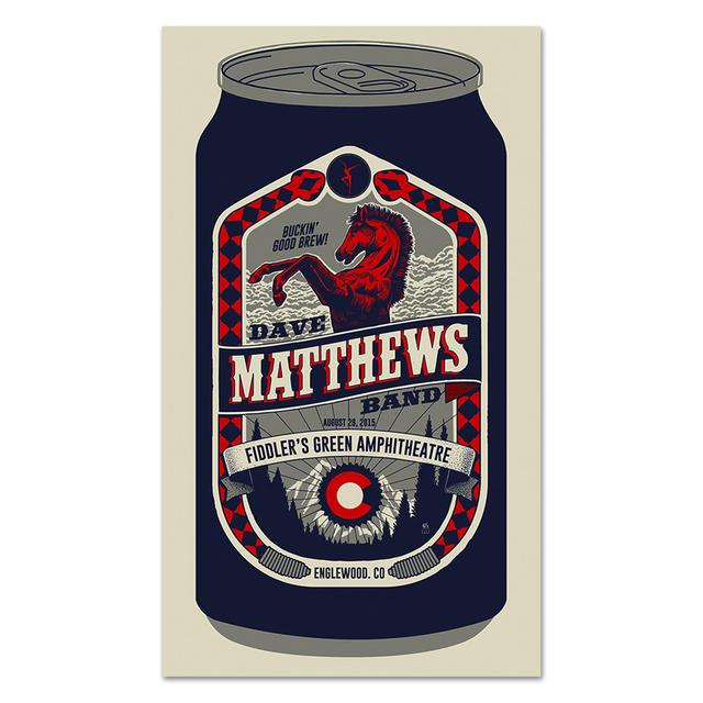 DMB Show Poster – Englewood, CO 8/29/2015