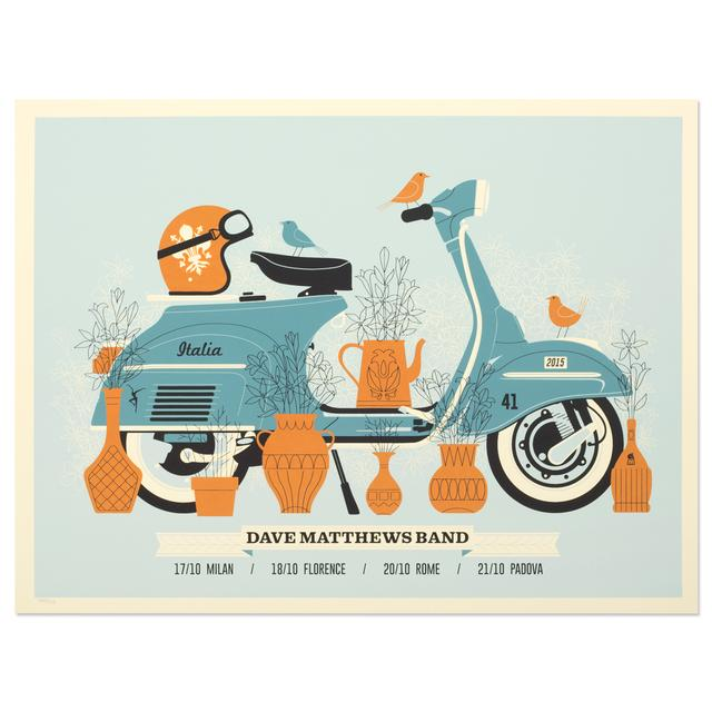 DMB Show Poster –  Italy 10/17/2015-10/21/2015
