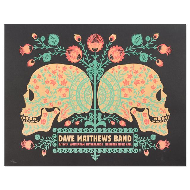 DMB Show Poster – Amsterdam, Netherlands 11/2/2015