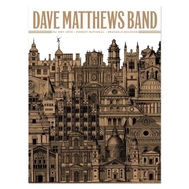 DMB Show Poster - Brussels 11/4/2015