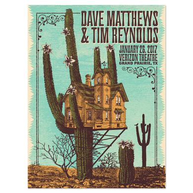 Dave Matthews Band Dave & Tim Show Poster– Grand Prairie, TX 1/26/17