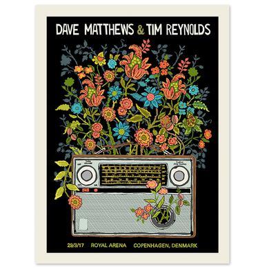 Dave Matthews Band Dave & Tim Show Poster - Copenhagen, Denmark 3/29/2017