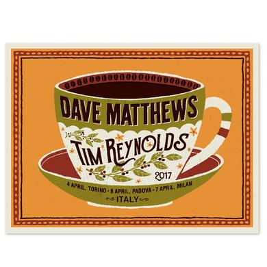 Dave Matthews Band Dave & Tim Show Poster - Italy April 2017