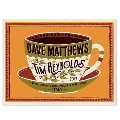 Dave Matthews Band Dave & Tim Show Poster - Italy April 2017