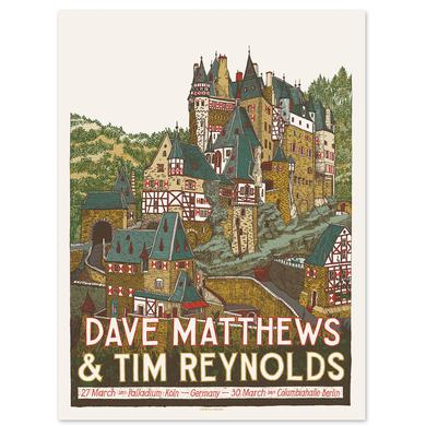 Dave Matthews Band Dave & Tim Show Poster - Germany 3/27/2017 & 3/30/2017