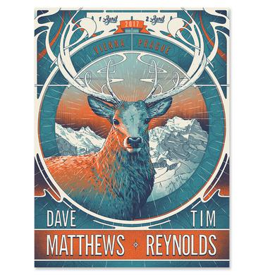 Dave Matthews Band Dave & Tim Show Poster - Vienna, AT / Prague, CZ       - April 1 & 2