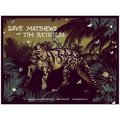 Dave Matthews Band Dave & Tim Show Poster - Jacksonville, FL 5/30/2017