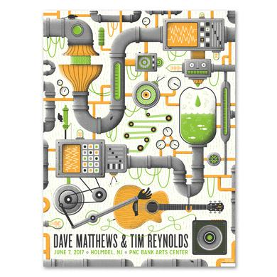 Dave Matthews Band Dave and Tim Show Poster - Holmdel, NJ 6/7/2017