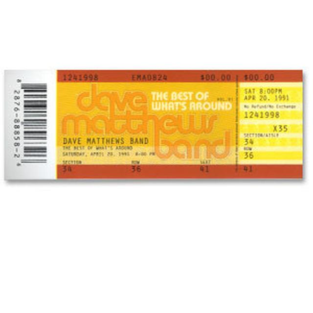 Dave Matthews Band The Best of What's Around Ticket Sticker