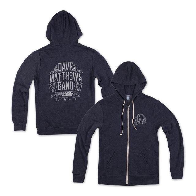 DMB Custom Blue Zip Hoodie