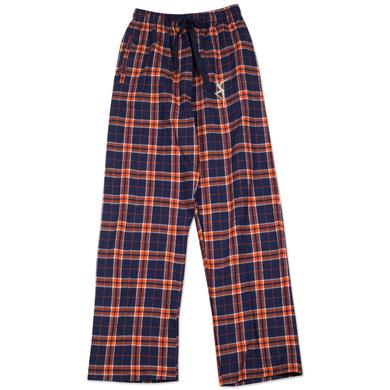 DMB Flannel Firedancer PJ Pants - Navy/Orange