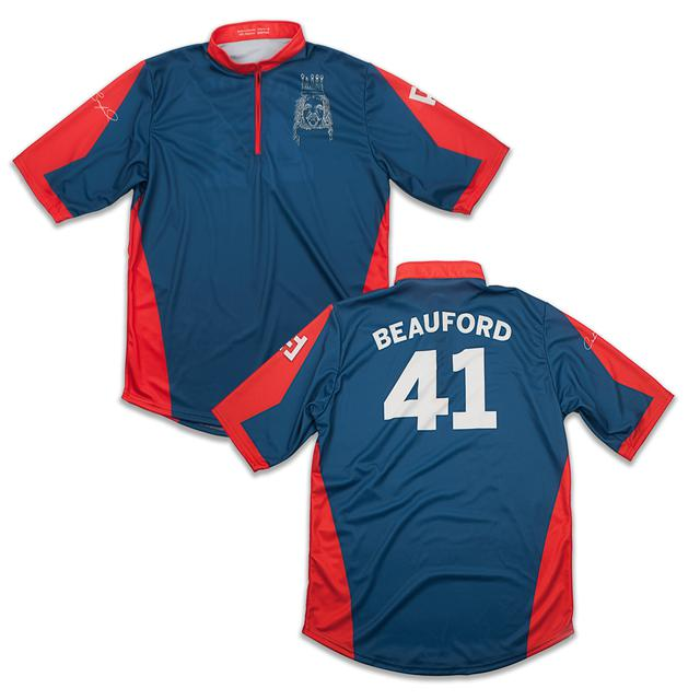 Dave Matthews Band Custom Carter Beauford Jersey Red/Blue