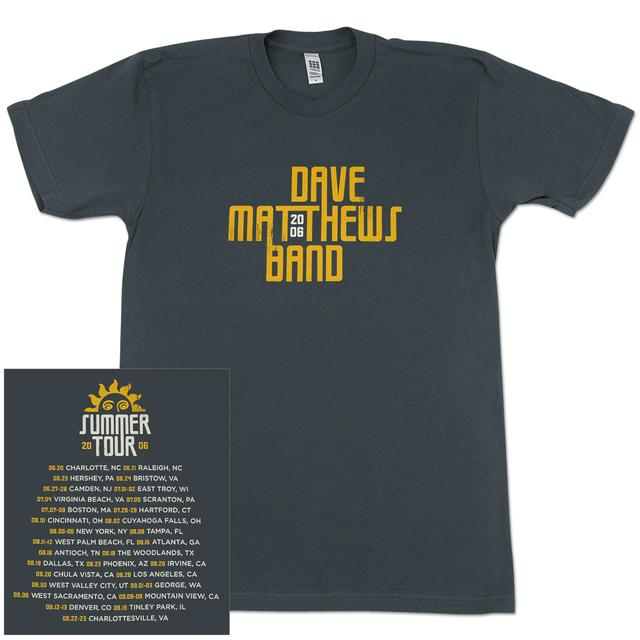DMB 2006 Summer Tour Date Shirt