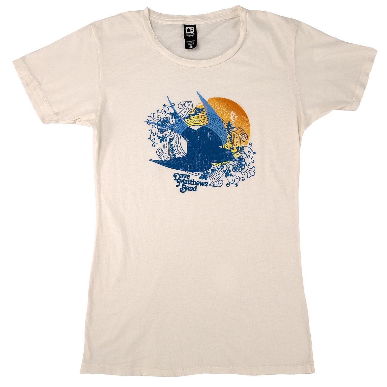 00047499c Dave Matthews Band Women's Natural Bird Shirt