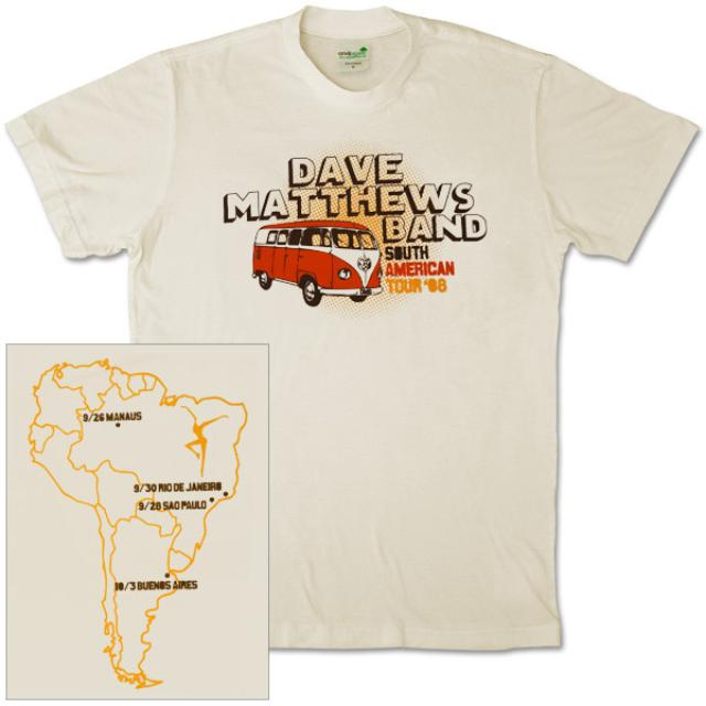 DMB 2008 South American Tour Shirt