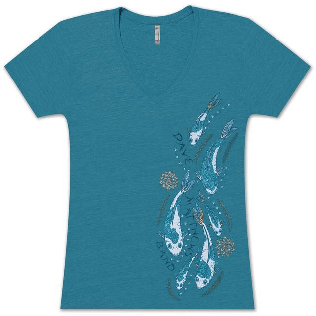DMB Women's Koi Fish V-Neck Shirt