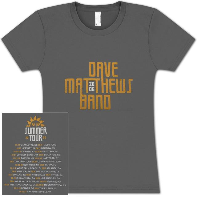 Ladies DMB 2006 Summer Tour Date Shirt