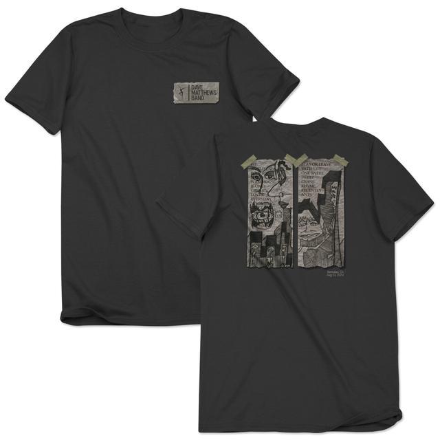 Dave Matthews Band Stefan Lessard Setlist Doodle T-shirt