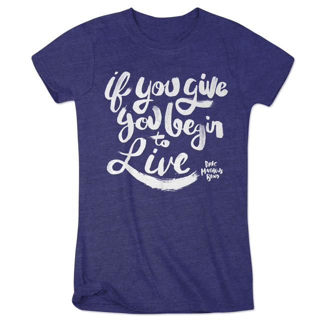 "DMB - Women's ""If You Give"" Logo Tee"
