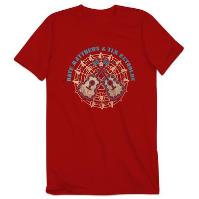 Dave Matthews Band Dave & Tim Crossed Guitars Men's Tee Red