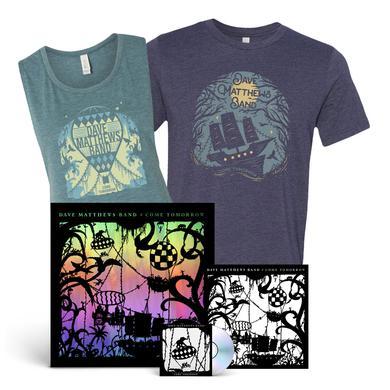 Dave Matthews Band Come Tomorrow + Shirt + Foil Poster Bundle