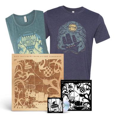 Dave Matthews Band Come Tomorrow + Shirt + Wood Cutout Bundle
