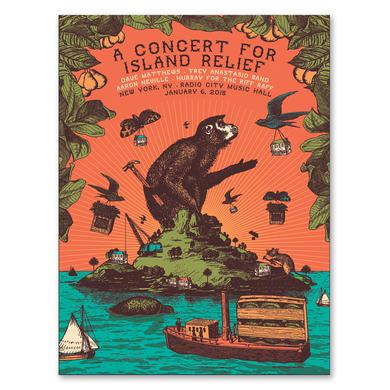 Dave Matthews Band Concert for Island Relief Poster