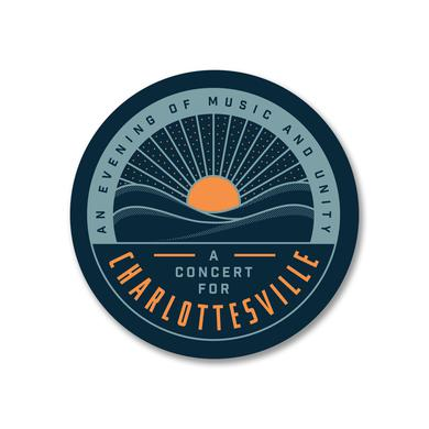 Dave Matthews Band Concert for Charlottesville Sticker-Circle Logo