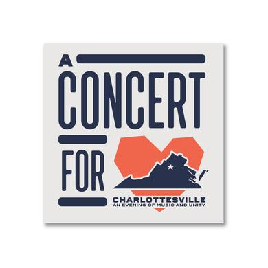 Dave Matthews Band Concert for Charlottesville Sticker-Heart Logo