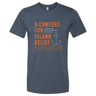 Dave Matthews Band Concert for Island Relief Anchor T-Shirt