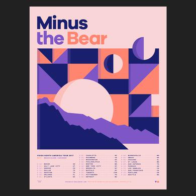Minus The Bear Spring 2017 Tour Poster