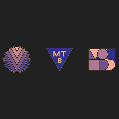 Minus The Bear Abstract Enamel Pin Set