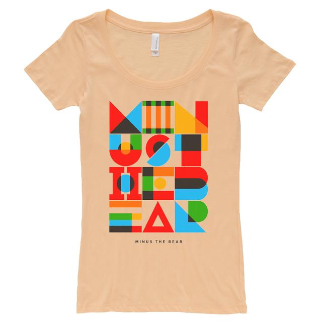 Minus The Bear Geometric Warm Girl's Scoopneck Tee