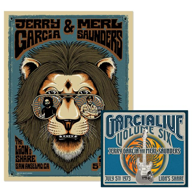 Jerry Garcia & Merl Saunders - GarciaLive Volume 6:  7/5/73 Download and Poster Bundle