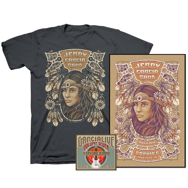 Jerry Garcia Band - GarciaLive Volume 7: Download, Poster & Organic T-Shirt Bundle