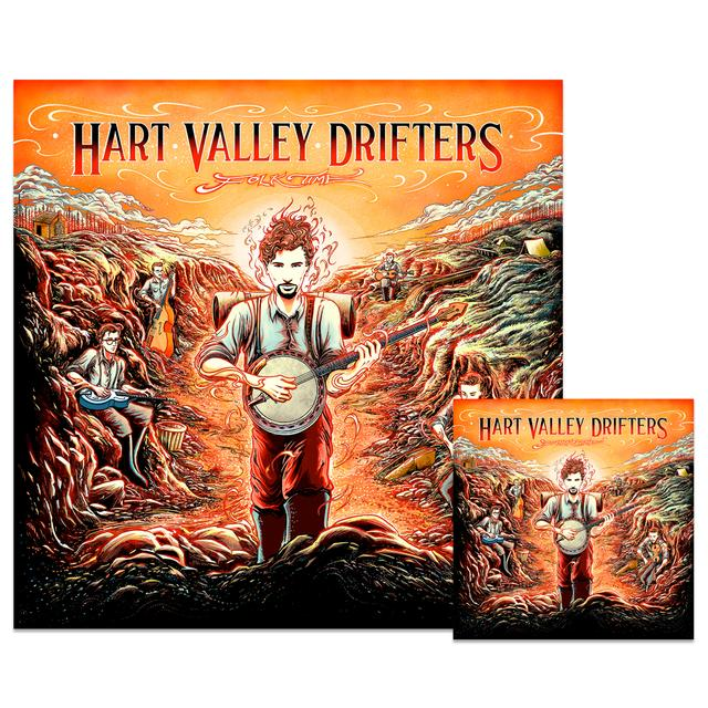 Jerry Garcia Hart Valley Drifters - Folk Time: Download & Poster Bundle