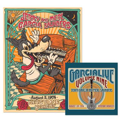 Jerry Garcia & Merl Saunders: GarciaLive Volume 9: CD & Poster Bundle