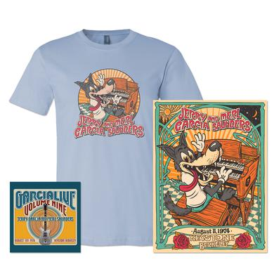 Jerry Garcia & Merl Saunders - GarciaLive Volume 9: Download, Poster & Organic T-Shirt Bundle