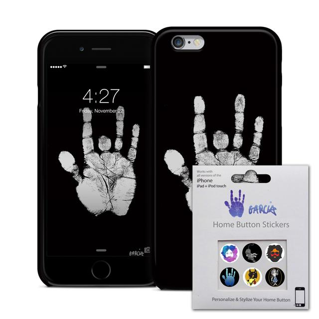 Jerry Garcia Hand iPhone 6 Case & Home Button Decals Bundle