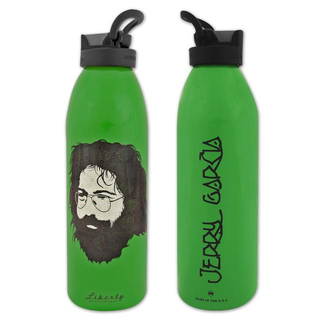 Jerry Garcia Green Henna Water Bottle