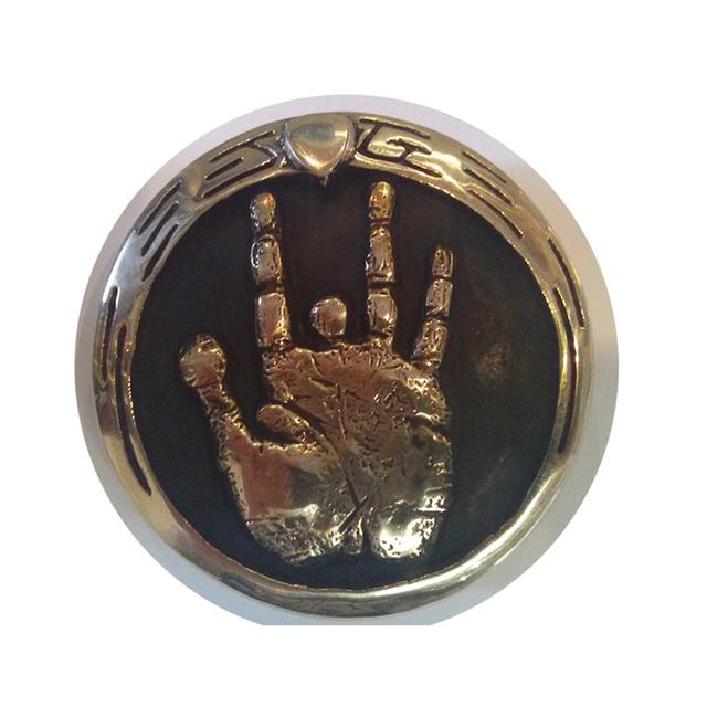 Jerry Garcia Handprint Limited Edition Brass Belt Buckle