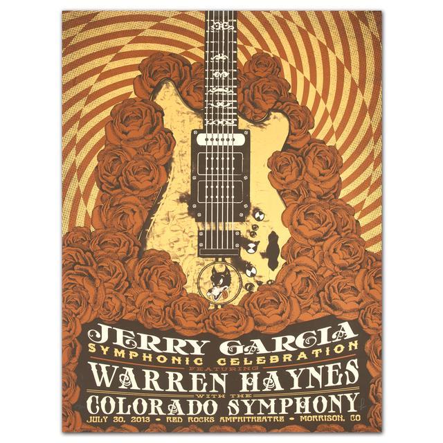 Jerry Garcia Symphonic Celebration featuring Warren Haynes Red Rocks Event Poster