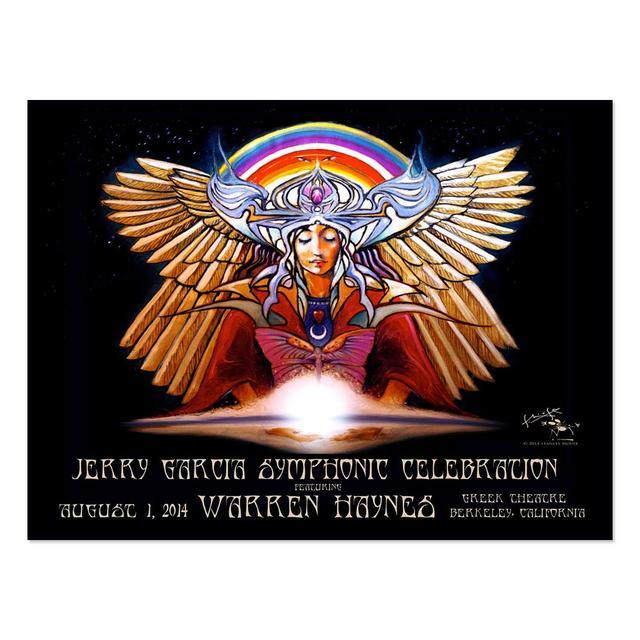 Stanley Mouse Jerry Garcia Symphonic Celebration Greek Theatre Lithograph