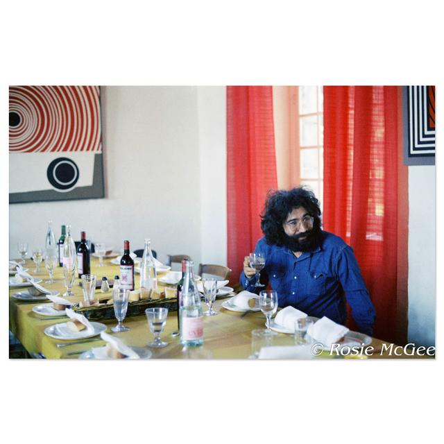 Jerry Garcia, Chateau d'Herouville, 1971 by Rosie McGee