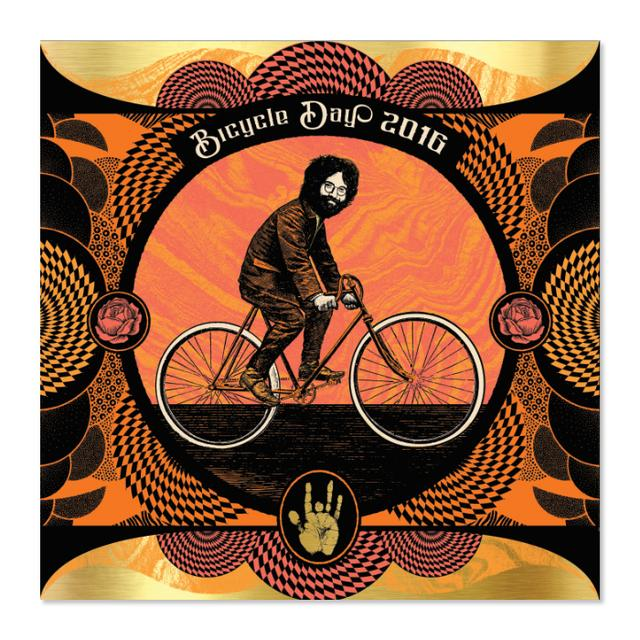 "Jerry Garcia Bicycle Day ""Orange Sunshine"" Variant"