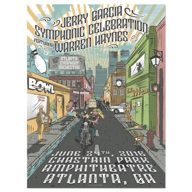 Jerry Garcia Symphonic Celebration featuring Warren Haynes Atlanta Event Poster