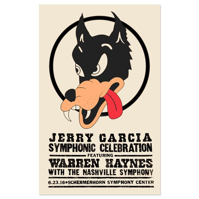 Jerry Garcia Symphonic Celebration featuring Warren Haynes Nashville Event Poster