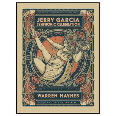 Jerry Garcia Symphonic Celebration featuring Warren Haynes Ravinia Event Poster