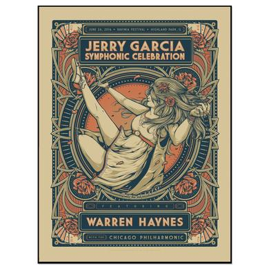 Jerry Garcia Symphonic Celebration featuring Warren Haynes Ravinia Event Poster