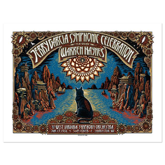 Jerry Garcia Symphonic Celebration featuring Warren Haynes Charleston Event Poster